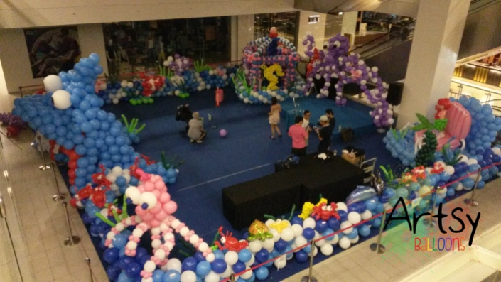 , Shopping mall balloon decorations, Singapore Balloon Decoration Services - Balloon Workshop and Balloon Sculpting