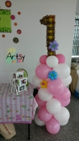 number 1 alphabet balloon columns