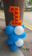 number 1 balloon alphabets