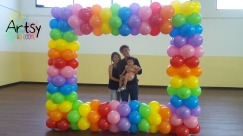 Rainbow Photobooth balloon decoration