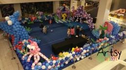 sea creature balloon decoration