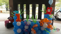 underwater themed balloon backdrop