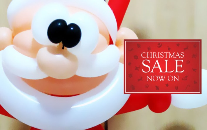 balloon santa promotion