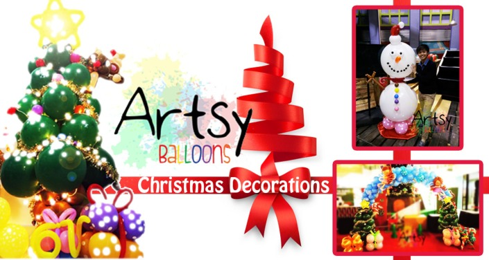 , Artsyballoons Christmas Balloon Decoration Package, Singapore Balloon Decoration Services - Balloon Workshop and Balloon Sculpting