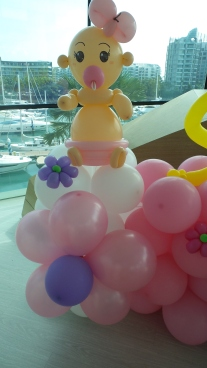 Baby first year balloon backdrop (5)
