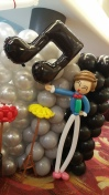Balloon Sculpting Singapore for birthday parties and events balloon Singer boy