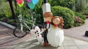 balloon wedding couple (4)