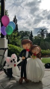 Balloon Sculpting Singapore for birthday parties and events balloon wedding couple sculpture with dog
