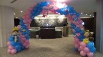 Princess and prince theme balloon decorations