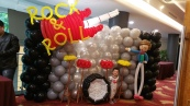 rock and roll balloon backdrop