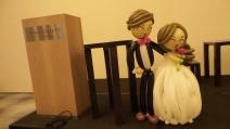 wedding couple on stage