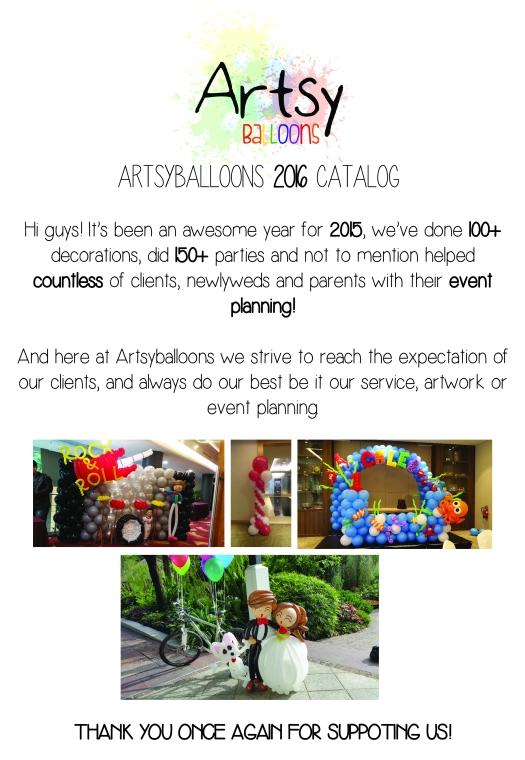 Artsyballoons 2016 Catalog Page 1