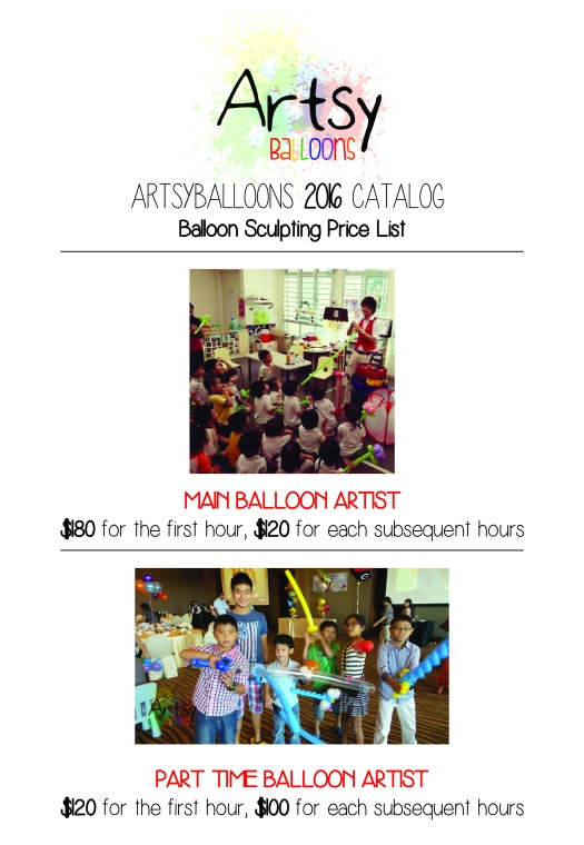 Artsyballoons 2016 Catalog Page 2