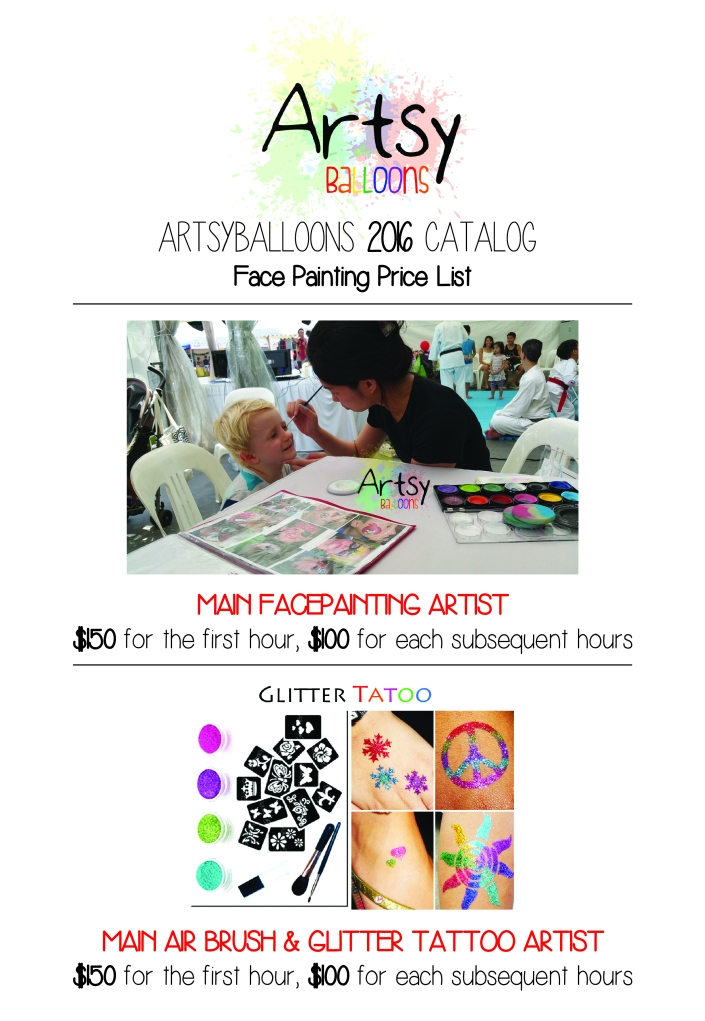 , Artsyballoon's 2016 catalog!, Singapore Balloon Decoration Services - Balloon Workshop and Balloon Sculpting