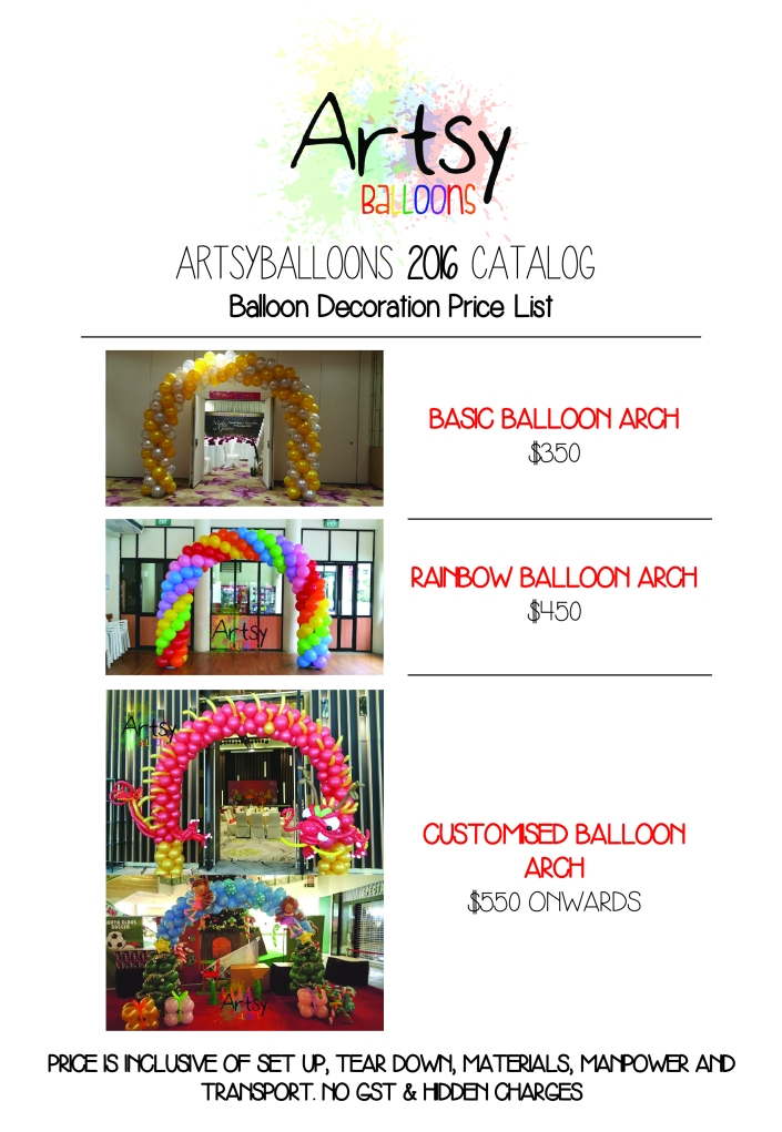 Artsyballoons 2016 Catalog Page 4