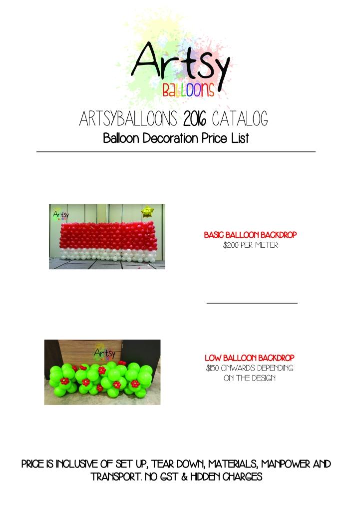 Artsyballoons 2016 Catalog Page 6
