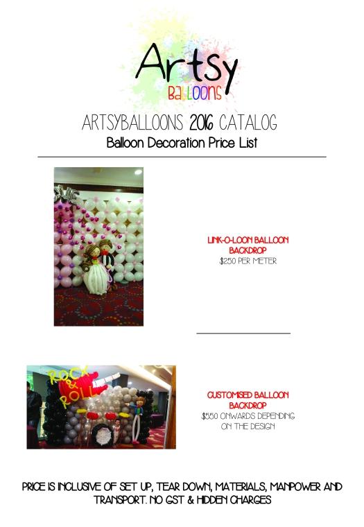 Artsyballoons 2016 Catalog Page 7
