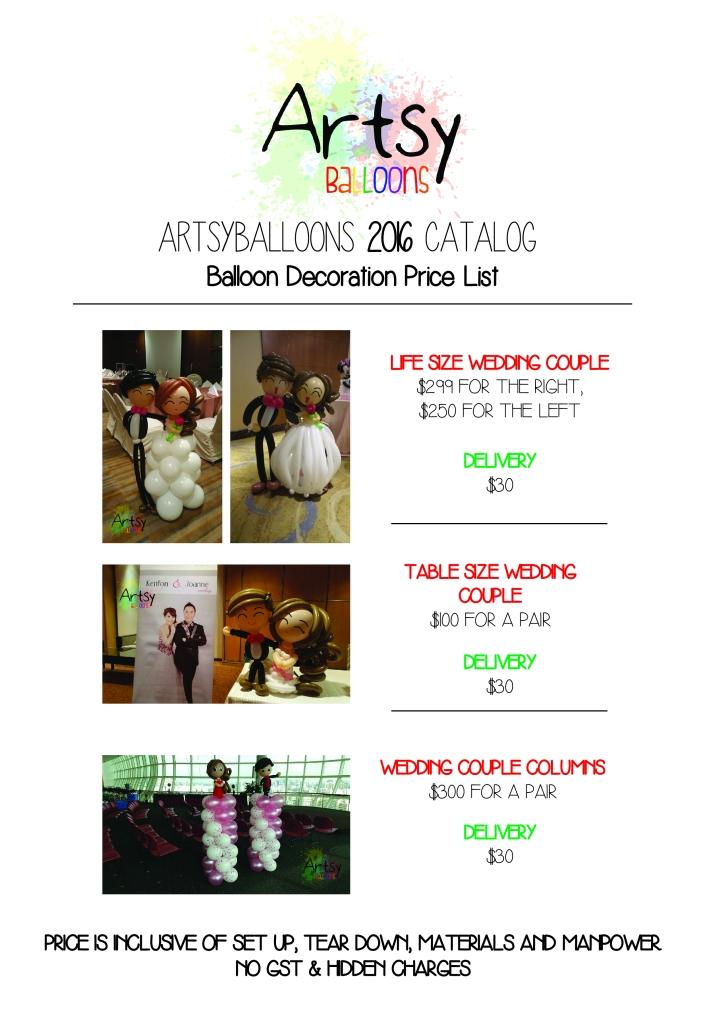 Artsyballoons 2016 Catalog Page 8