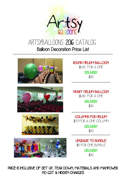 Artsyballoons 2016 Catalog Page 9