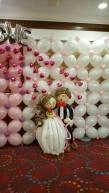 Balloon backdrop + wedding couple balloon decoration for a wedding in singapore