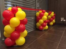 Balloon decoration for queue poles in singapore