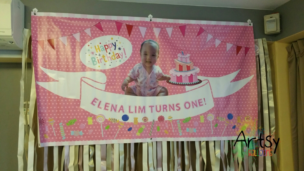, Banners for Parties, Singapore Balloon Decoration Services - Balloon Workshop and Balloon Sculpting