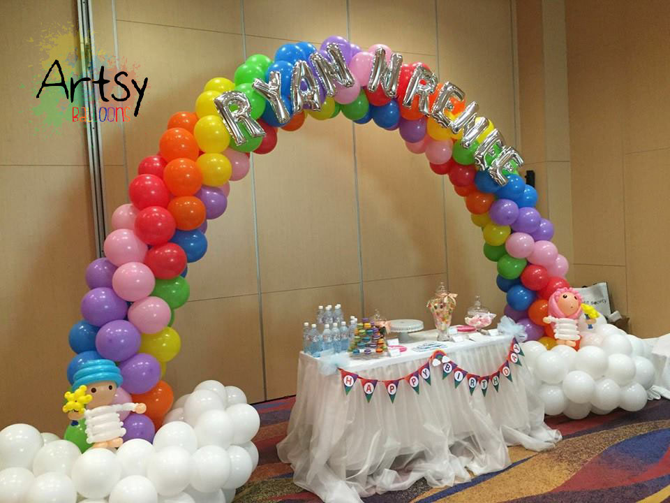 Balloon arch singapore balloon decoration services for Arch balloon decoration