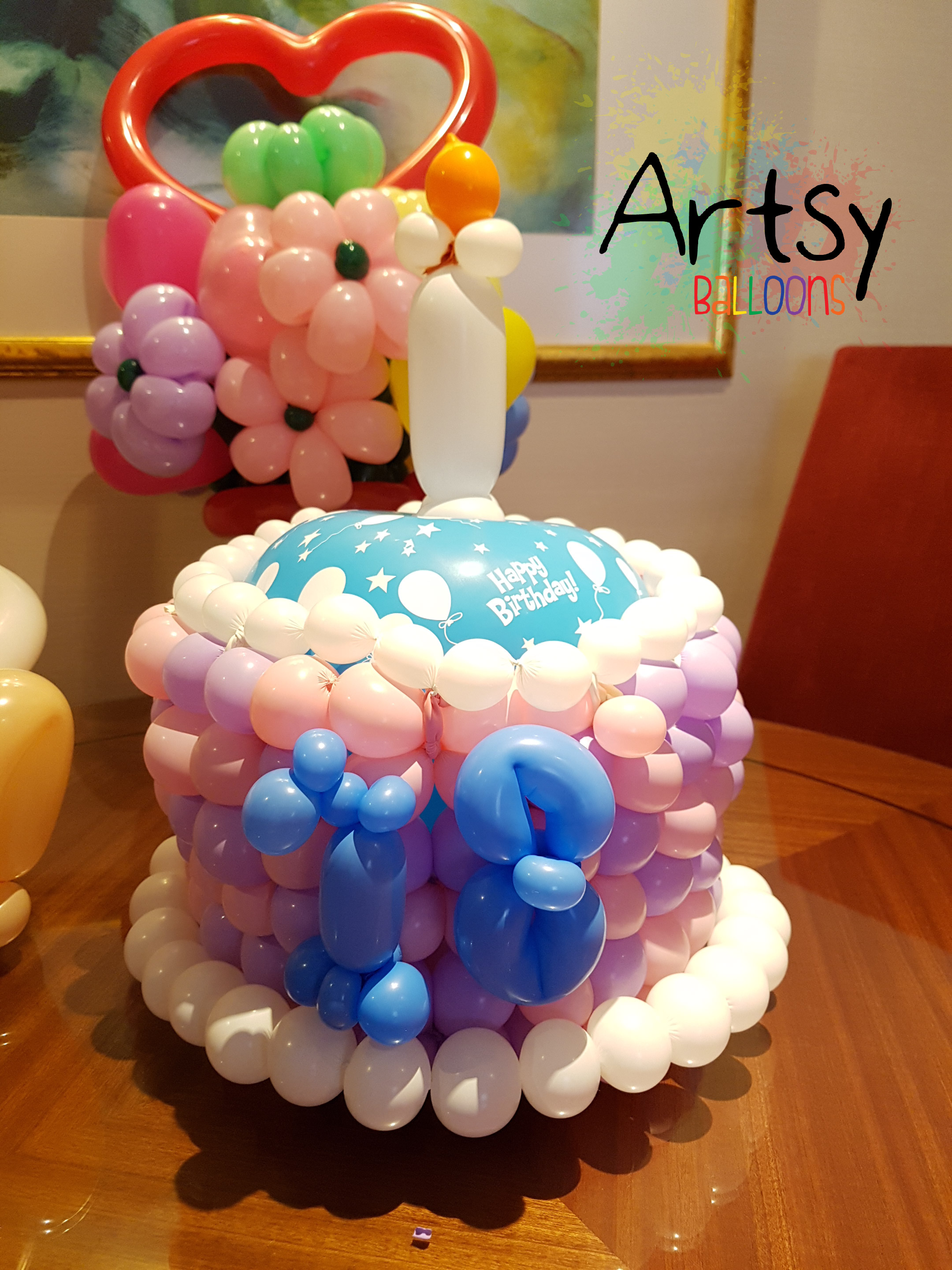 Balloon cake ideas for Balloon cake decoration