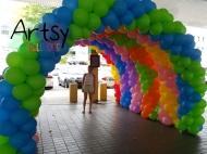 balloon arch tunnel