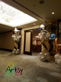 balloon column for entrance