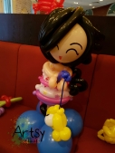 balloon girl table display