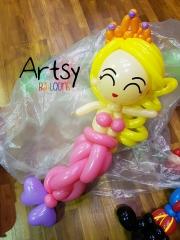 balloon princess mermaid sculpture