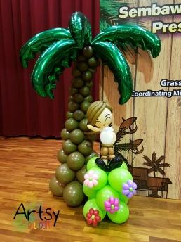 kampon boy and balloon coconut tree
