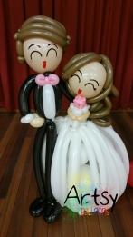 life size wedding balloon couple