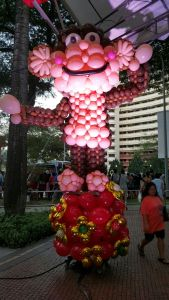 balloon monkey Chingay at Sembawang singapore
