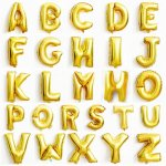 Megaloon Alphabet Gold Foil Balloon $25.90 40
