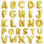 Megaloon Alphabet Gold Foil Balloon $25.90 40