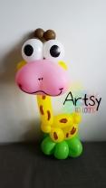 Giraffe balloon sculpture animal
