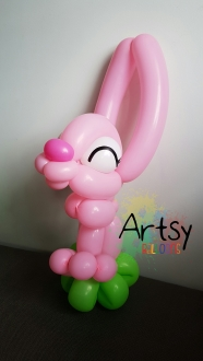 Rabbit balloon sculpture animal