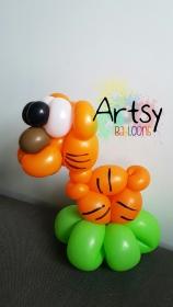Tiger balloon sculpture animal