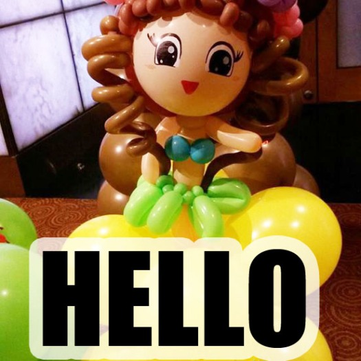 balloon doll decoration
