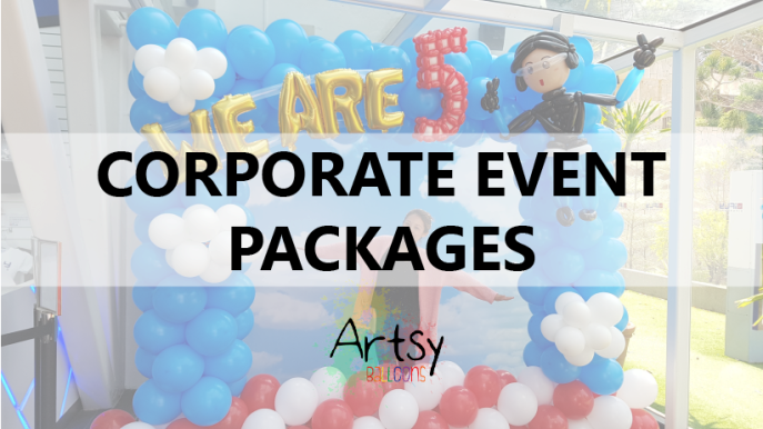 Corporate event packages artsyballoons