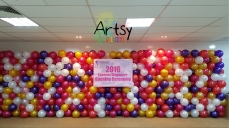 Easecox singapore grand opening balloon backdrop with colourful colours1
