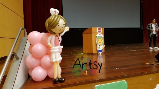 Nurse day balloon nurse sculpture (3)