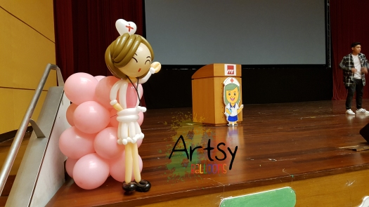 Nurse day balloon nurse sculpture (3)