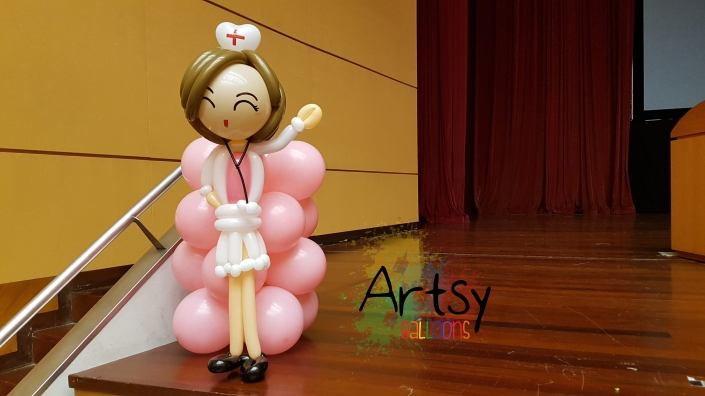 , Dedicated to all the selfless nurses in the world, Singapore Balloon Decoration Services - Balloon Workshop and Balloon Sculpting