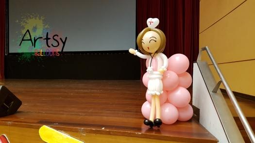 Nurse day balloon nurse sculpture (5)
