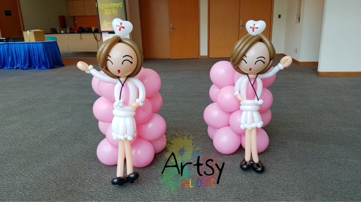 Nurse day balloon nurse sculpture