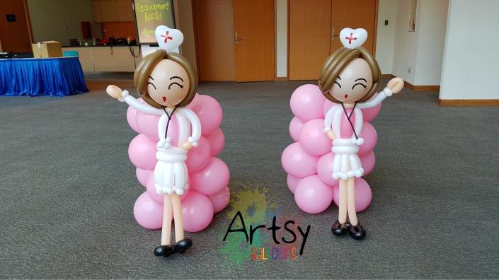Nurse day balloon nurse sculpture