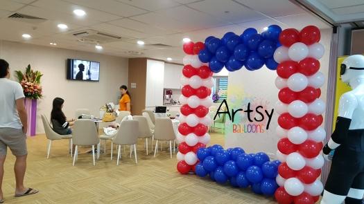 USA colour theme balloon photoframe backdrop